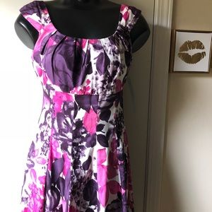 London Times Spring Floral Dress NWT